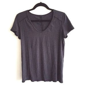 LULULEMON Scoop Neck Short Sleeve T Heathered Blue